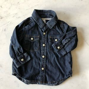 GAP Shirts & Tops - Gap baby denim button up and t-shirt